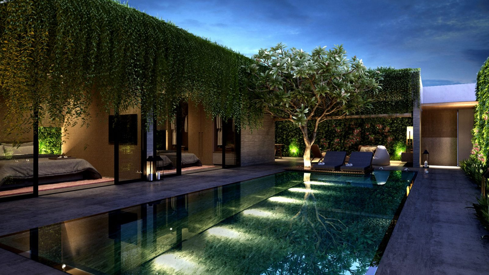luxury poolside landscaping project