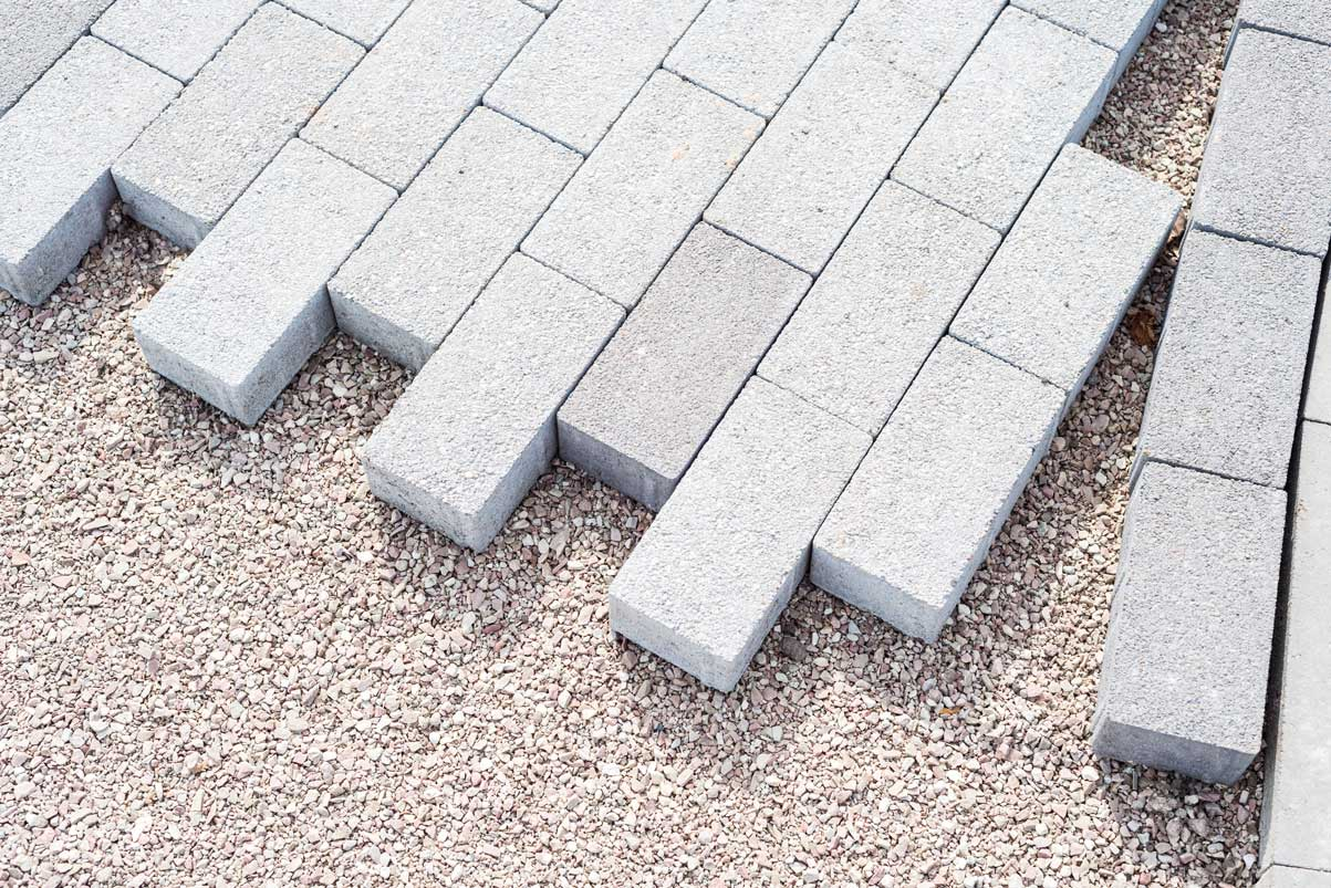 white-brick-pavers-background
